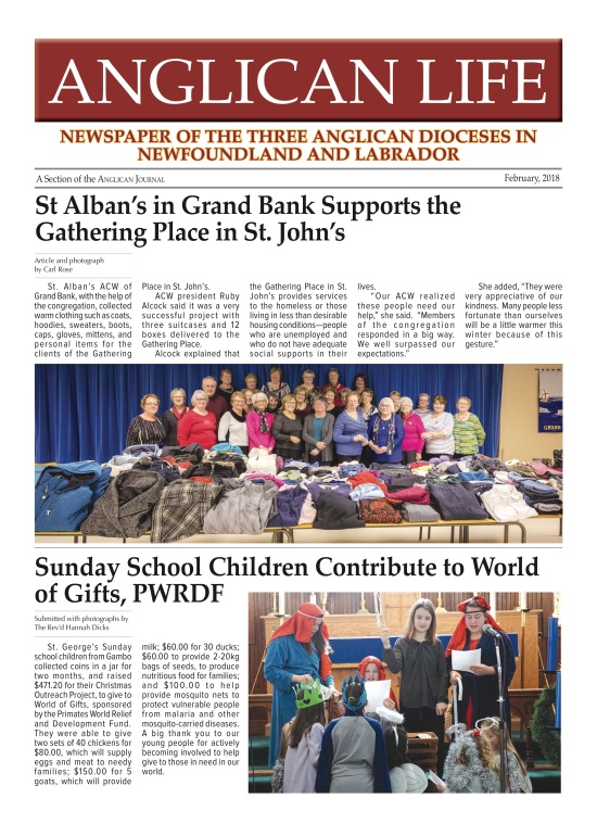 ANGLICAN LIFE February 2018