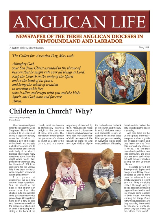 Anglican Life May 2018 PROOF