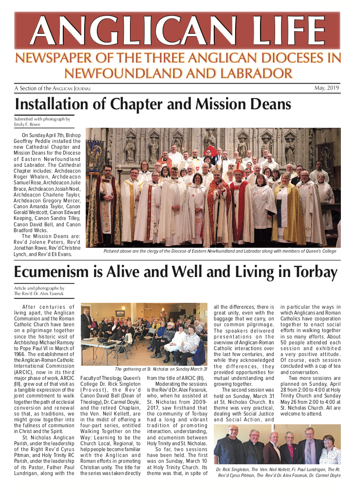 May issue Anglican Life cover.png